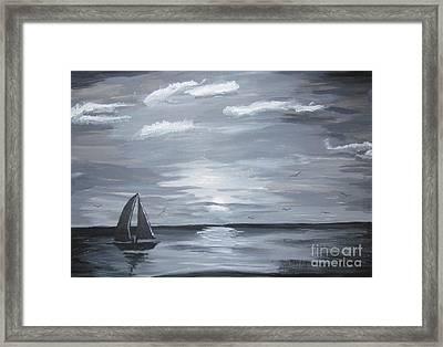 Calm Seas Framed Print by Haleema Nuredeen