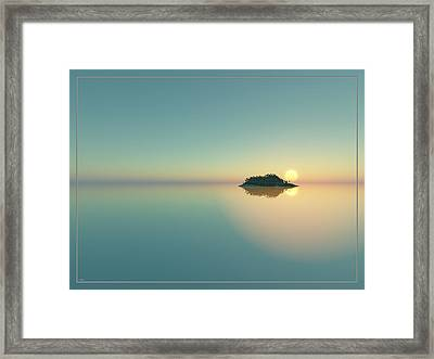 Calm Seas Sunset... Framed Print by Tim Fillingim