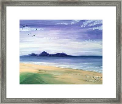 Calm Seashore Framed Print