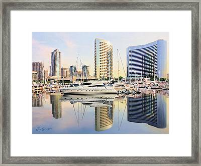 Framed Print featuring the painting Calm Summer Morning by Jane Girardot