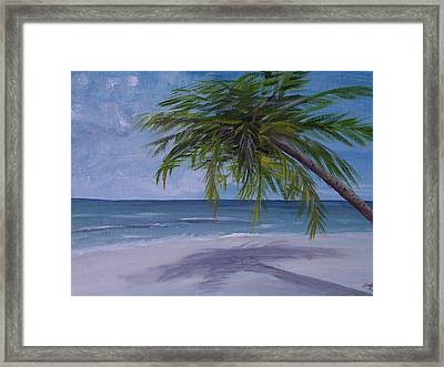 Framed Print featuring the painting Calm Waters by Debbie Baker