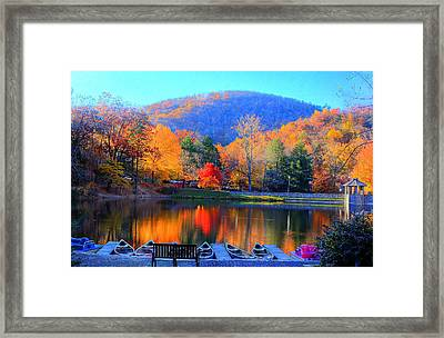 Calm Waters In The Mountains Framed Print