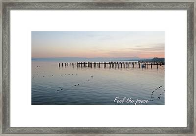 Calm Your Mind And Feel The Peace Framed Print