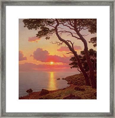 Calme De Soir, Cote Dazur Framed Print