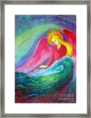 Calming Angel Framed Print by Jane Small
