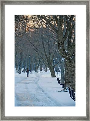 Calming Brisk Framed Print by Cyryn Fyrcyd