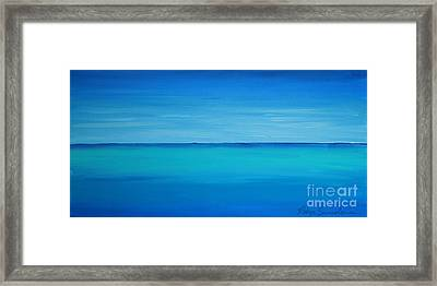 Calming Turquise Sea Part 1 Of 2 Framed Print