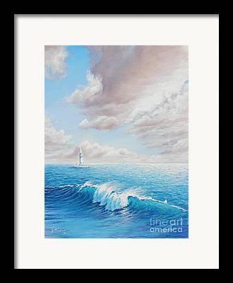 Santa Cruz Sailboat Framed Prints