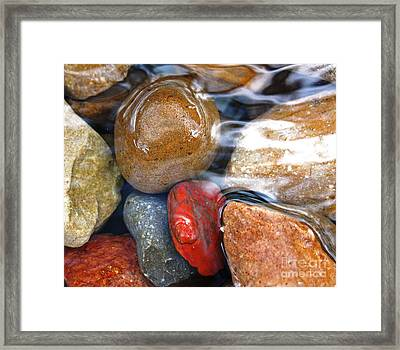 Calming Stones Framed Print