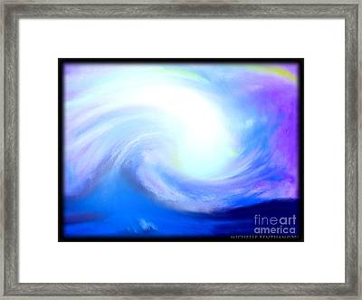 Calming The Stomr Framed Print by Michelle Bentham