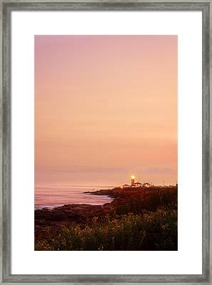 Calming Visual- Beavertail Lighthouse Art Framed Print