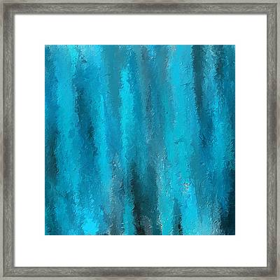 Calming Visuals-turquoise Art Framed Print by Lourry Legarde