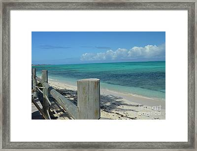 Calming Waters Framed Print by Judy Wolinsky