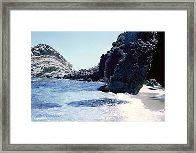 Calming Waves Framed Print