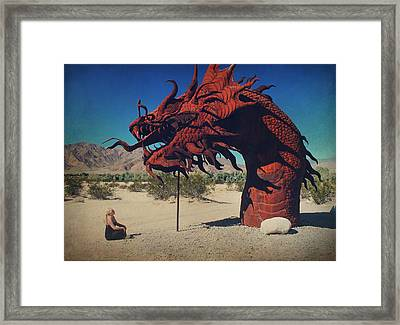 Calmly Facing Down My Demon Framed Print