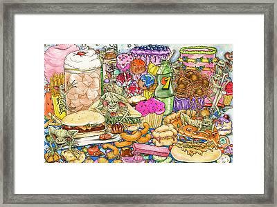 Calorie Gremlins Framed Print