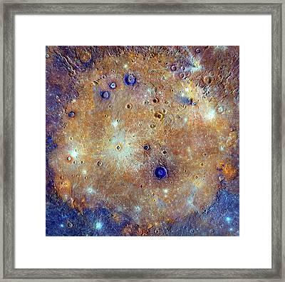 Caloris Basin Framed Print