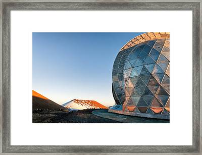 Framed Print featuring the photograph Caltech Submillimeter Observatory by Jim Thompson