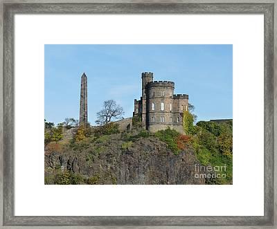 Calton Hill Framed Print by Deborah Smolinske