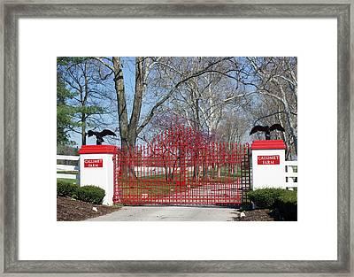 Calumet Farm Entrance Framed Print by Roger Potts