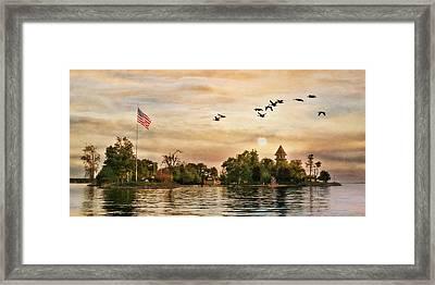 Calumet Island Water Tower Framed Print by Lori Deiter
