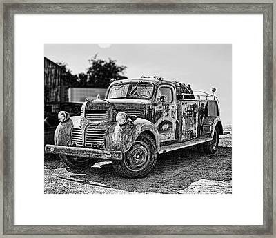 Calusa Rural Fire Truck No2 Framed Print