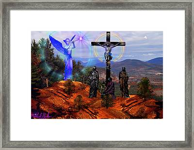 Calvary Framed Print by Michael Rucker