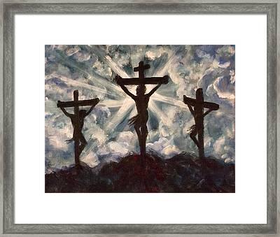 Golgotha Framed Print by Nancy Welsch