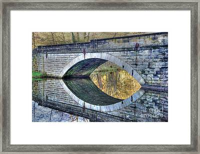 Calver Bridge Reflection Framed Print