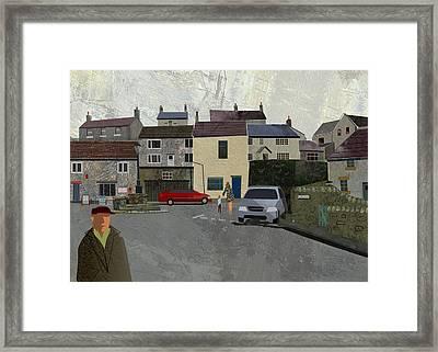 Calver Village Framed Print by Kenneth North