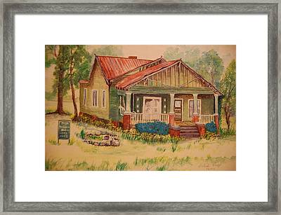 Calvin Baber House Framed Print by Lynn Beazley Blair