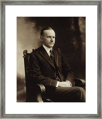 Calvin Coolidge 1918 Framed Print by Mountain Dreams