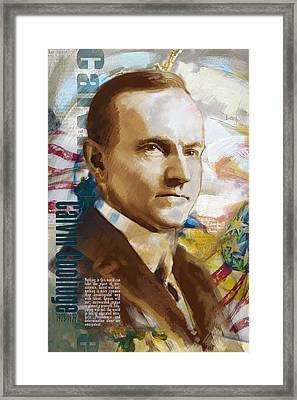 Calvin Coolidge Framed Print by Corporate Art Task Force