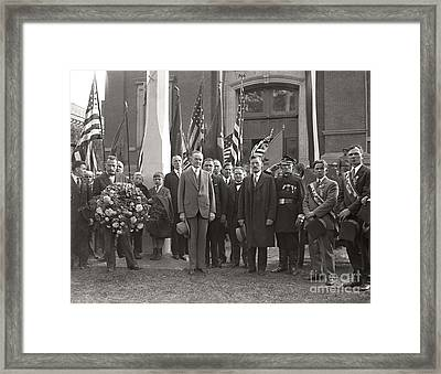 Framed Print featuring the photograph Calvin Coolidge Springfield Ma 1925 by Martin Konopacki Restoration
