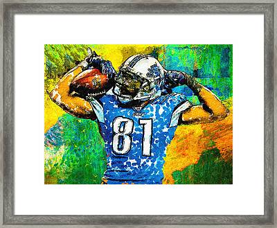Calvin Is Muscles Framed Print