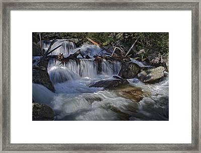 Calypso Cascades Framed Print by Tom Wilbert