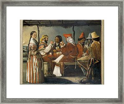 Cama�a, Juan L. 1795 - 1877. Soldiers Framed Print
