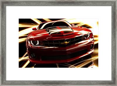 Camaro Ss Framed Print by Art Work
