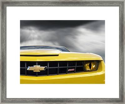 Camaro Ss Evil Eye Framed Print by Gill Billington