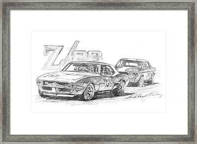 Camaro Z28 Trans Am Framed Print by David Lloyd Glover