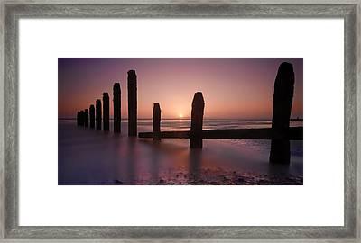 Camber Sands Sunset Framed Print by Mark Leader