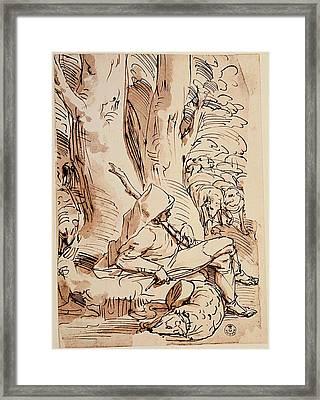 Cambiaso Luca, Shepherd Resting, 16th Framed Print