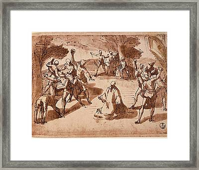 Cambiaso Luca, The Martyrdom Of St Framed Print