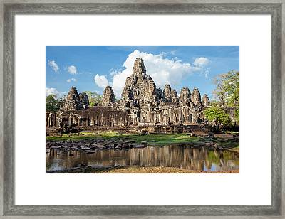 Cambodia, Bayon Temple, Late 12th-13th Framed Print by Charles O. Cecil