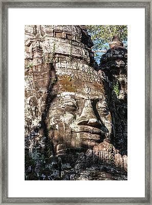 Cambodia North Gate, Angkor Thom Some Framed Print by Charles O. Cecil