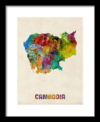 Cambodian Framed Prints
