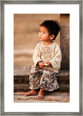 Cambodian Girl 02 Framed Print