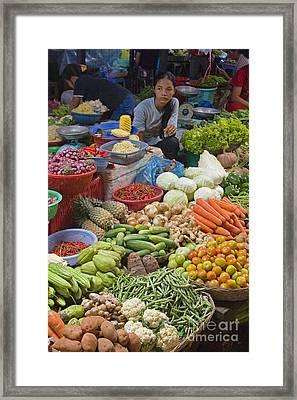 Cambodian Vegetable Market Framed Print by Craig Lovell