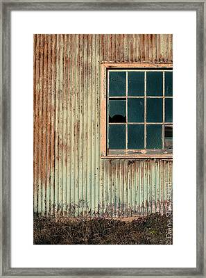Cambria Barn Framed Print by Diana Shay Diehl