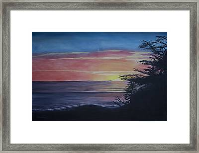 Cambria Setting Sun Framed Print